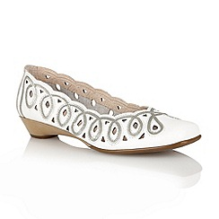 Lotus - White 'Lottie' slip on shoes