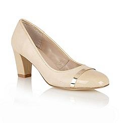 Lotus - Beige 'Lexi' court shoes