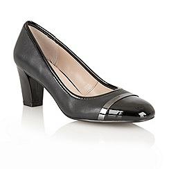 Lotus - Black 'Lexi' court shoes
