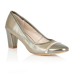 Lotus - Light gold leather shiny 'Lexi' court shoes