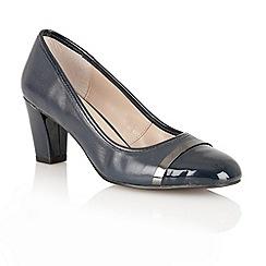 Lotus - Navy 'Lexi' court shoes