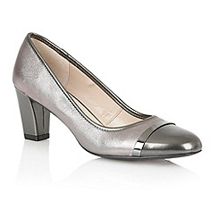 Lotus - Pewter leather shiny 'Lexi' court shoes