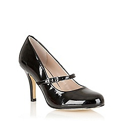 Lotus - Black shiny 'Serenoa' mary-jane court shoes