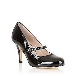 Lotus - Black shiny 'Serenoa' mary-jane court shoes