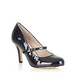 Lotus - Navy shiny 'Serenoa' mary-jane court shoes