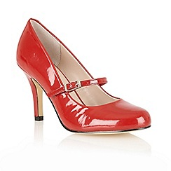 Lotus - Red shiny 'Serenoa' mary-jabe court shoes