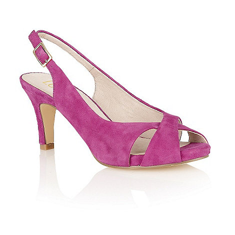 Lotus - Fuchsia suede +Scarlette+ peep-toe shoes