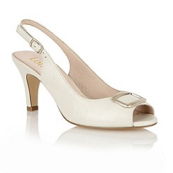 Lotus - Cream 'Emily' sling back shoes
