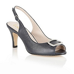 Lotus - Navy 'Emily' sling back shoes