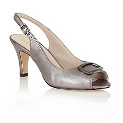 Lotus - Pewter 'Emily' sling back shoes