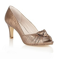 Lotus - Bronze 'Ava' open toe shoes