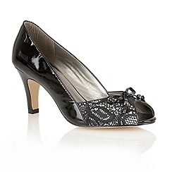 Lotus - Black patent 'Nicoletta' open toe shoes