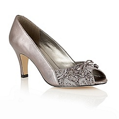 Lotus - Pewter 'Nicoletta' open toe shoes