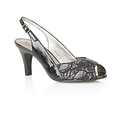 Lotus - Black patent 'Annabelle' sling back shoes