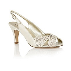 Lotus - Cream 'Annabelle' sling back shoes