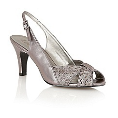 Lotus - Pewter 'Annabelle' sling back shoes