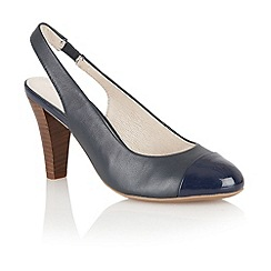 Lotus - Navy 'Daisy' sling back court shoes