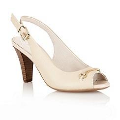 Lotus - Beige 'Tilly' open toe shoes