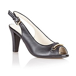 Lotus - Black leather 'Tilly' open toe shoes