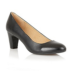 Lotus - Black leather 'Sophia' court shoes