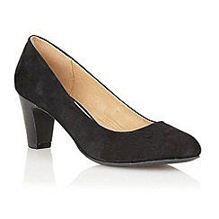 Lotus - Black suede 'Sophia' court shoes