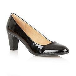 Lotus - Black patent leather 'Sophia' court shoes