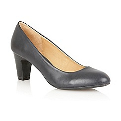 Lotus - Navy leather 'Sophia' court shoes