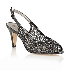Lotus - Black mesh 'Isabelle' open toe sandals