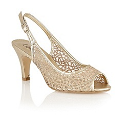 Lotus - Light gold mesh 'Isabelle' open toe sandals