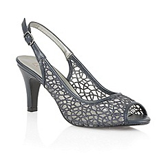 Lotus - Navy matt mesh 'Isabelle' peep toe shoes