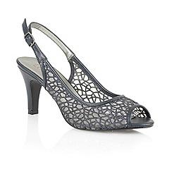Lotus - Navy matt mesh 'Isabelle' peep toe shoes