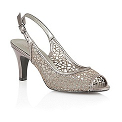 Lotus - Pewter mesh 'Isabelle' peep toe shoes