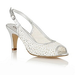 Lotus - Silver mesh 'Isabelle' open toe sandals