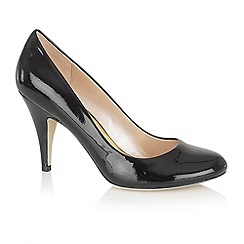 Lotus - Black shiny 'Melic' court shoes