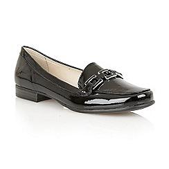 Lotus - Black shiny 'Tiger' loafer shoes