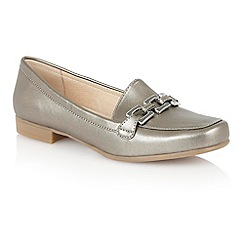 Lotus - Pewter metallic 'Tiger' loafer shoes