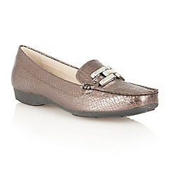 Lotus - Pewter lizard ' Alice' flat shoes