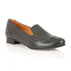 Lotus - Black leather 'Edge' Flat shoes