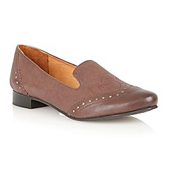 Lotus - Brown leather 'Edge' flat shoes