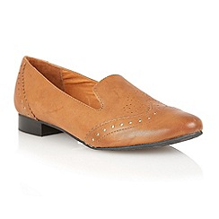 Lotus - Tan leather 'Edge' flat shoes