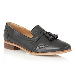 Lotus - Black leather 'Neo' flat shoes