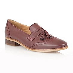 Lotus - Bordeaux leather 'Neo' flat shoes