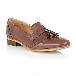 Lotus - Brown leather 'Neo' flat shoes
