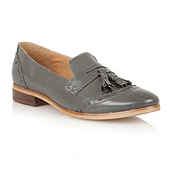 Lotus - Grey leather 'Neo' flat shoes
