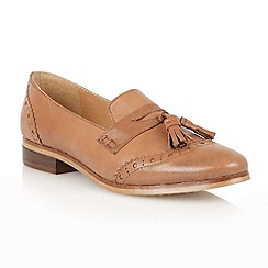 Lotus - Tan leather 'Neo' flat shoes