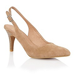 Lotus - Lotus beige suede 'Gloss' court shoes