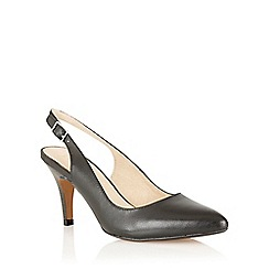 Lotus - Black leather 'Gloss' sling back high heel shoes