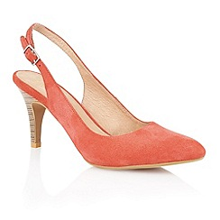Lotus - Lotus coral suede 'Gloss' court shoes