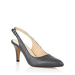 Lotus - Navy leather 'Gloss' sling back high heel shoes