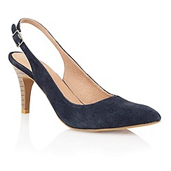 Lotus - Lotus navy suede 'Gloss' court shoes